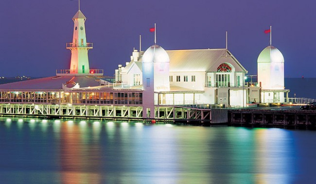 The all-you-can-eat Smorgy's at the end of Cunningham Pier. Image by Tourism VIC
