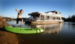 Houseboating the Murray near Mildura is fantastic fun and a cheap summer holiday