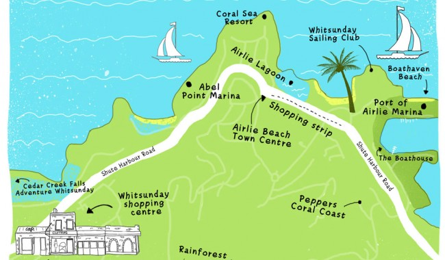 Airlie Beach map