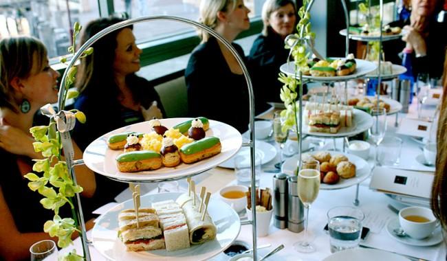 Harbourkitchen&bar's Parisian pastry chef Fabien Berteau's unusual green tea eclairs.