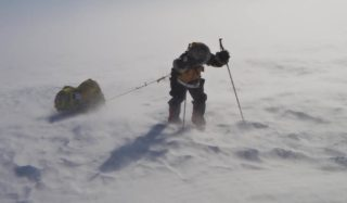 The hard graft on the way to the South Pole.