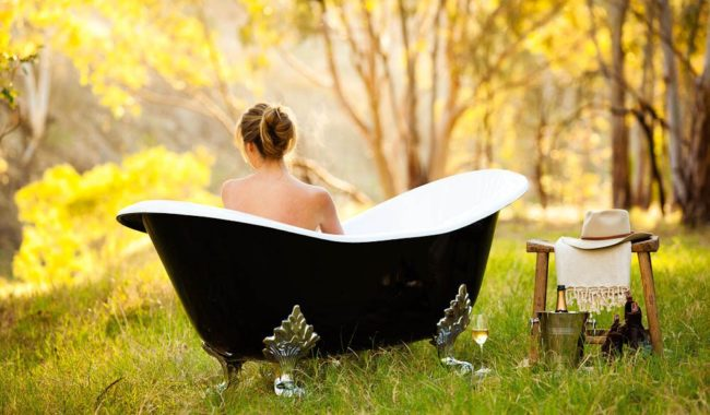 Bush bath in the Barossa Valley