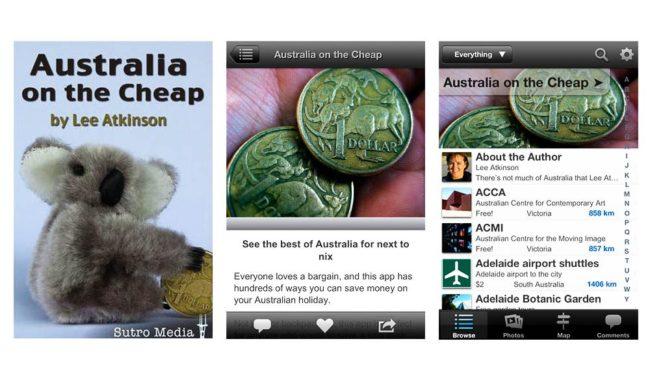 Travel writer Lee Atkinson's 'Australia on the Cheap' app.