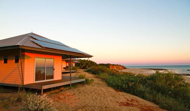Dawn breaks on Eco Beach Villa (Daniel Scott)