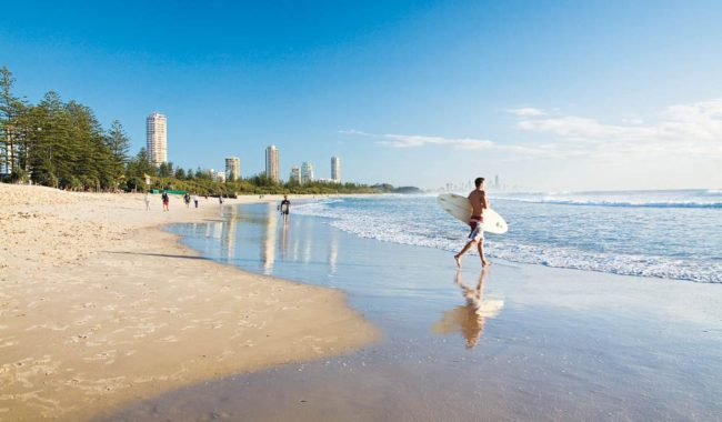 The 'softer' side of the Gold Coast: Coolangatta and Burleigh Heads.