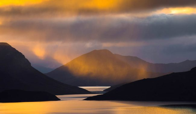 The 'God' rays of Lake Pedder, Tasmania.