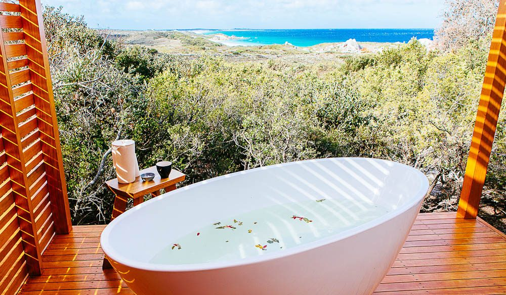 The Bay of Fires Spa is a new addition to the luxury walk and is inspired by the revival of indigenous healing practices