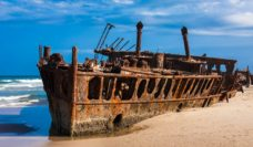 The SS Maheno: This former luxury cruise ship has been beached on Fraser's 75 Mile Beach since 1935.