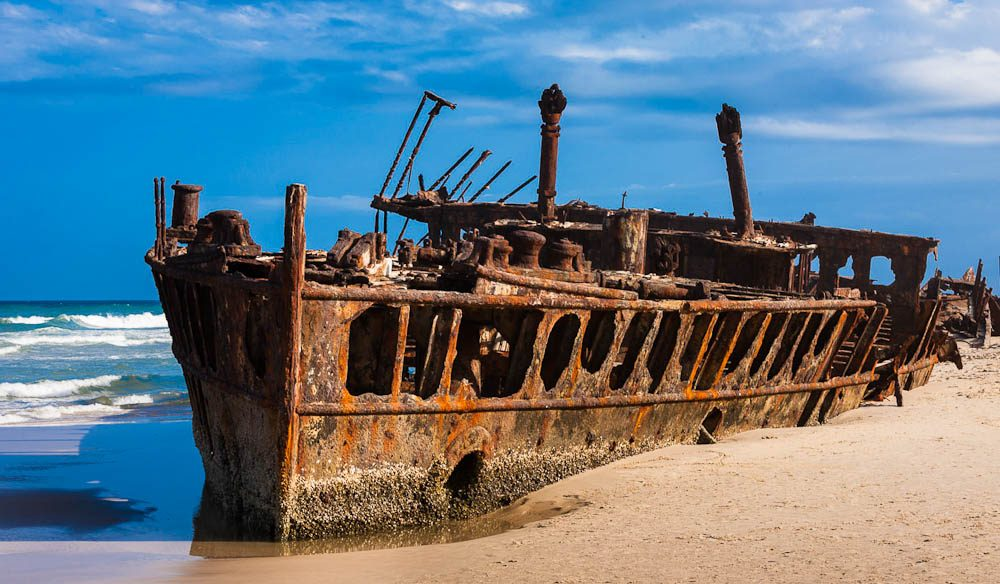 The ss maheno this former luxury cruise ship has been beached on