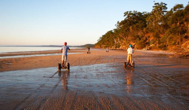 Segwaying into the sandy distance of Fraser Island's west coast.