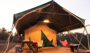 The self-catering safari-style tents at Murrameroo.