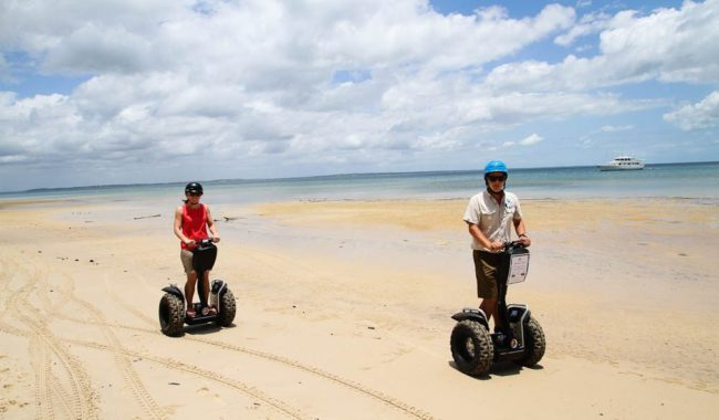 Fraser Island by Segway - when the tide is out.