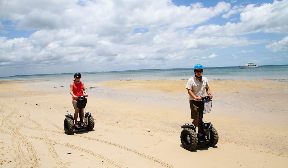 Fraser Island by Segway - when the tide is out.  Segway PT Tours  IMG_9737