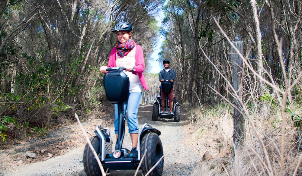 A Segway through the bush at Killalea State Park on the NSW South Coast.