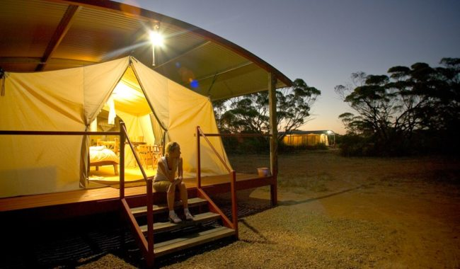 Six outback glamping secrets revealed australian traveller for Permanent tent cabins
