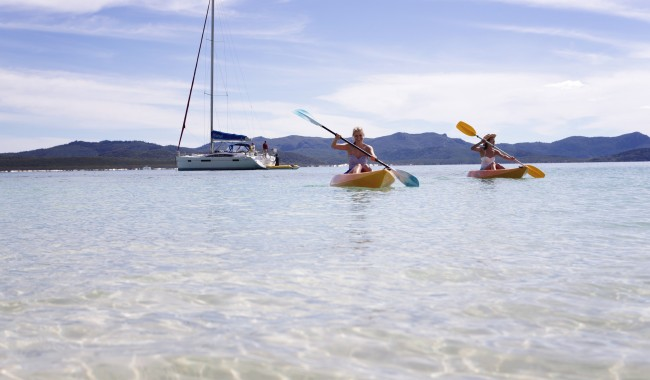 Hire a kayak on Hamilton Island, Whitsundays