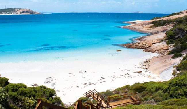 The white sands of Esperance, Western Australia.