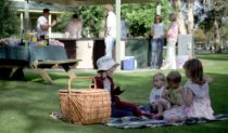 Family picnic - Central Coast Holiday Parks.