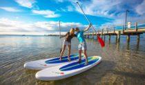 Paddle board heaven - Kingfisher Bay Resort, Fraser Island, Queensland