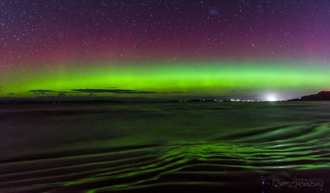 Photographer Matt Glastonbury gets the green light - of the Aurora Australis.