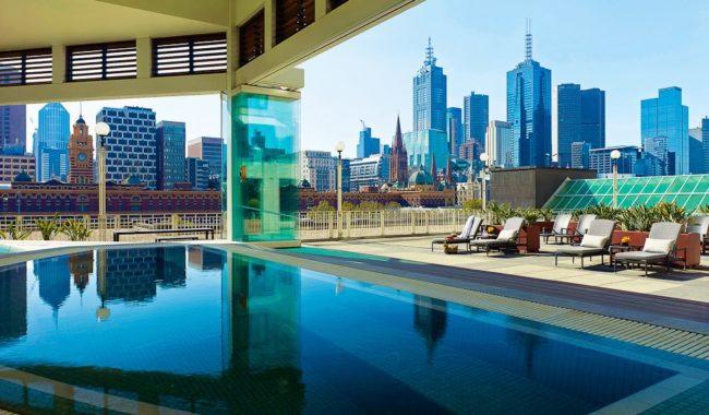 Jacuzzi view, The Langham, Melbourne