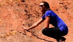 Surfing champ Layne Beachley at Uluru