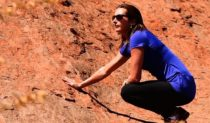 Surfing champ Layne Beachley at Uluru