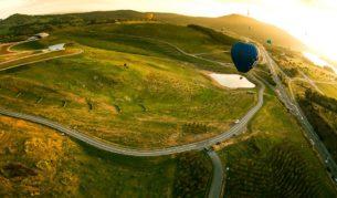 Hot air ballooning National Arboretum Canberra