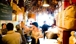 Melbourne coffee Brother Baba Budan Cafe Little Bourke Street.