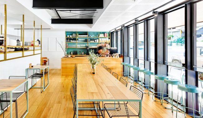 Gauge restaurant Scandinavian-style interior South Brisbane