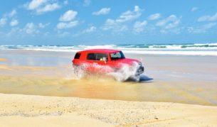 4wd 75 mile beach Fraser Island