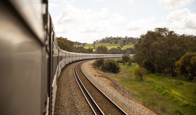 The Indian Pacific winds from Sydney to Perth