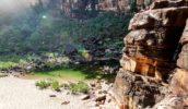 swimming spot Jim Jim Falls in Kakadu