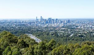 View to city from Mt Coot-tha 2
