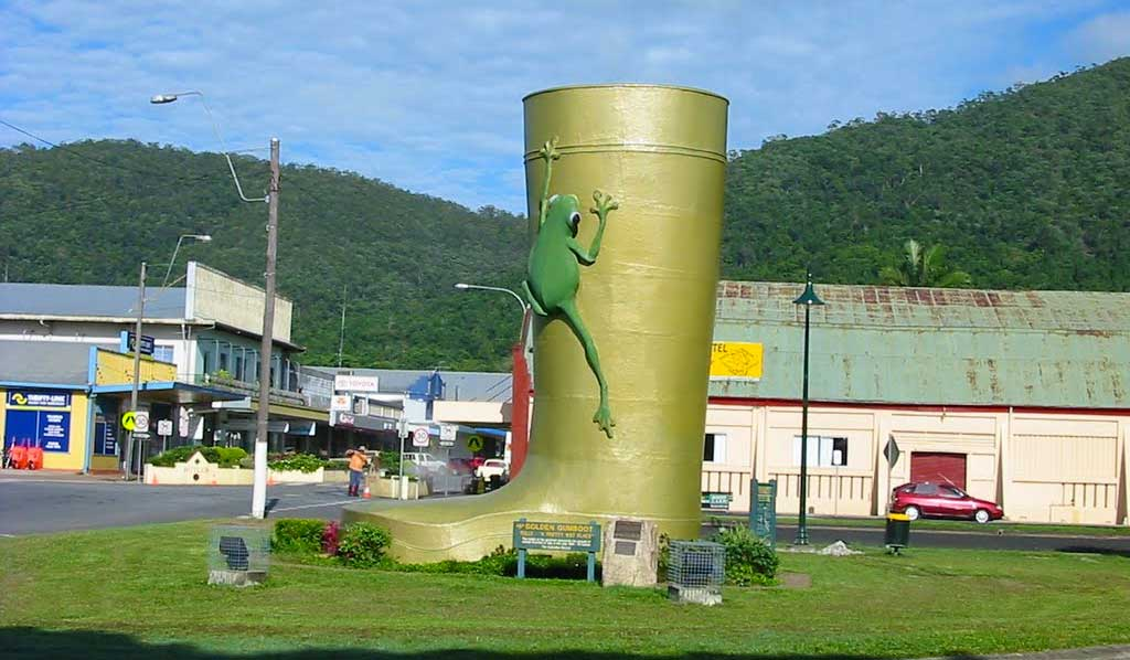 The Big Gumboot at Tully in Far North Queensland