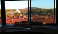 Uluru is never far from view when you stay at Longitude 131 (photo: Leigh-Ann Pow).