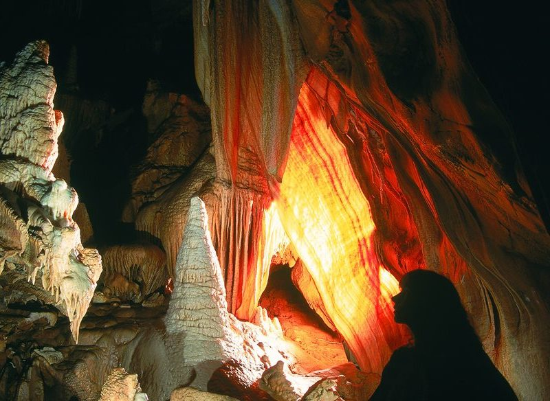 Giant Shawl, River Cave, Jenolan Caves, Blue Mountains.