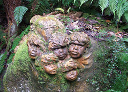 The clay sculptures of William Ricketts Sanctuary, Dandenong Ranges