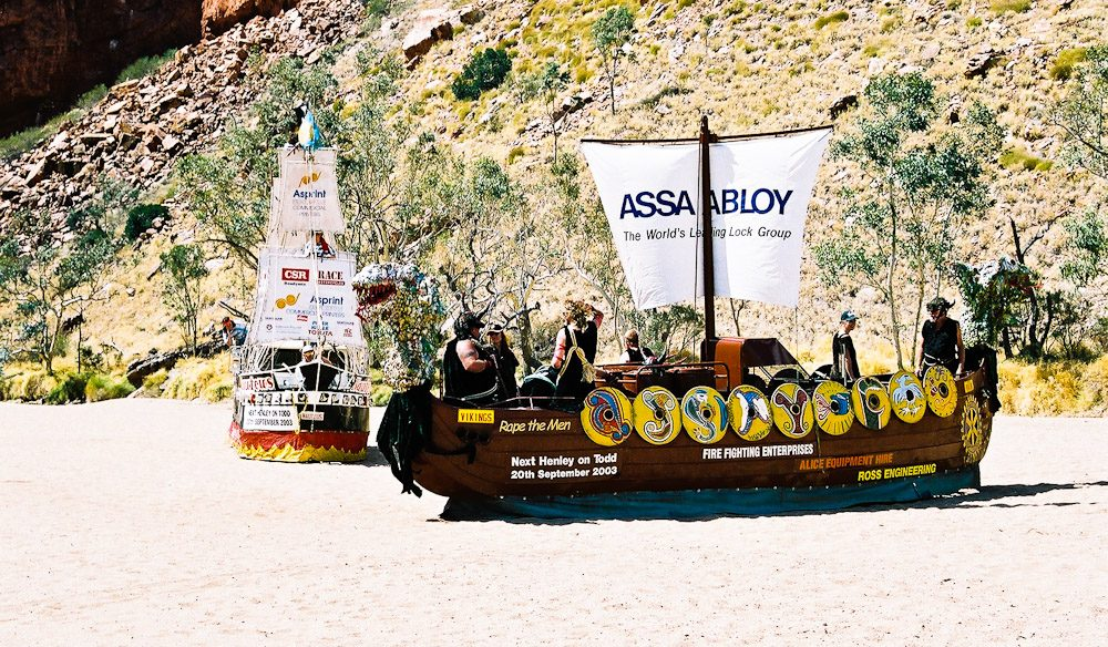 Experience the world's only waterless regatta on the Todd River in Alice Springs
