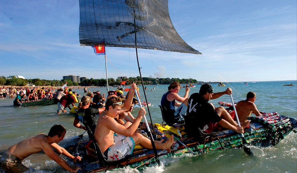 Thew most Australian of events, the Beer Can Regatta in Darwin.