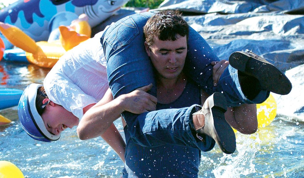 Wife Carrying Championship in Singleton