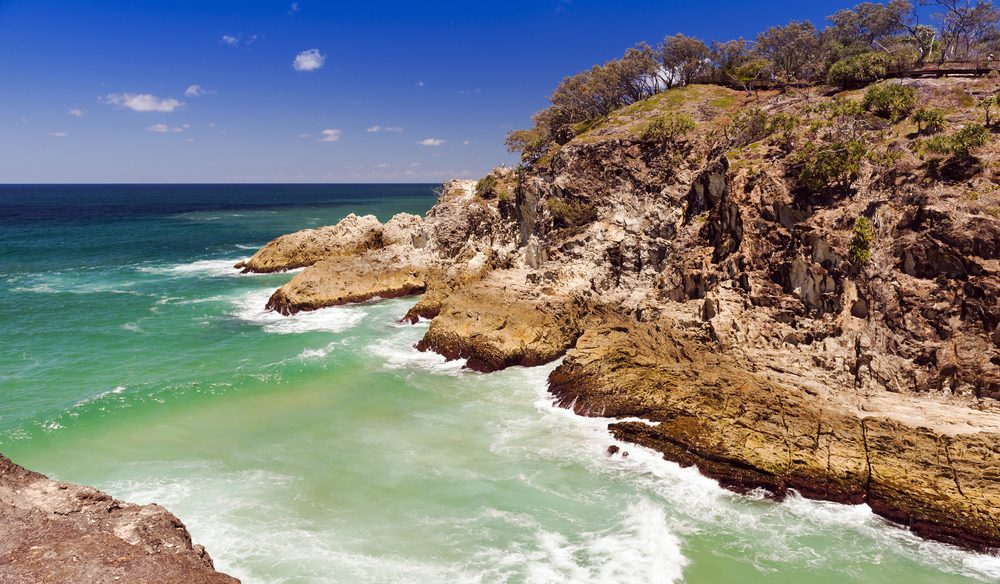 Popular North Gorge near Point Lookout on Stradbroke Island.