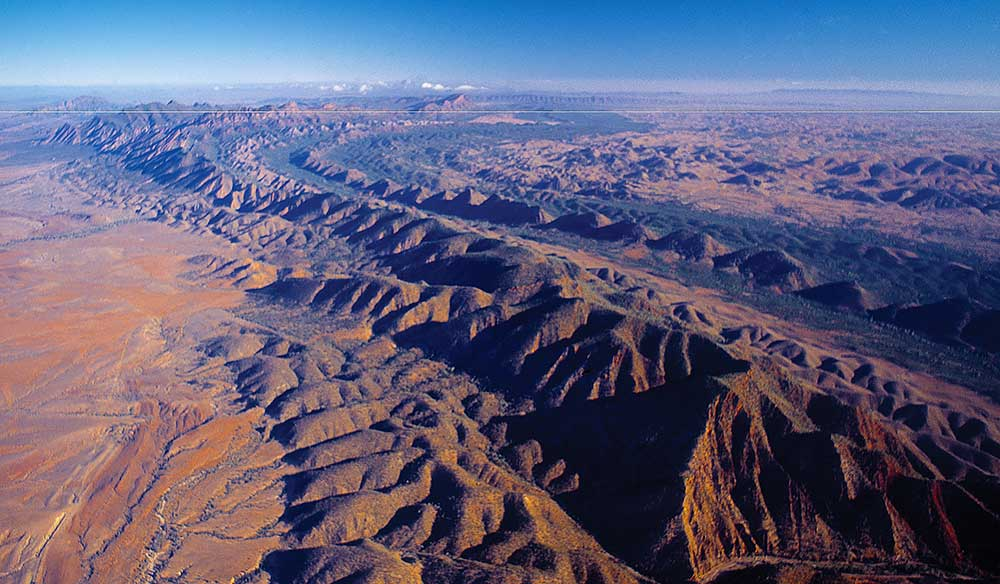 Aerial view of the Flinders Ranges. Image by Ken Martin