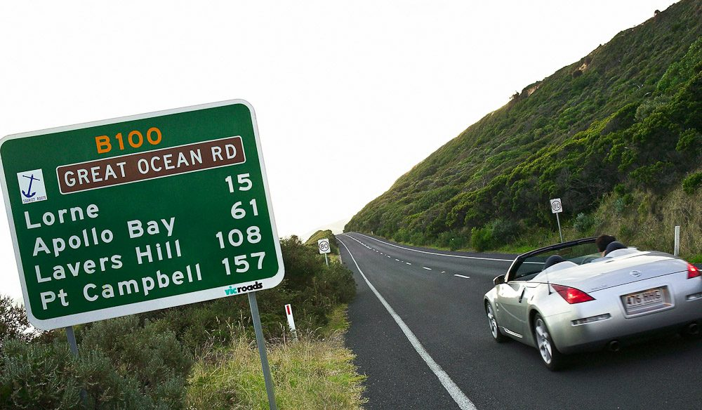 Cruising into Lorne, Great Ocean Road.