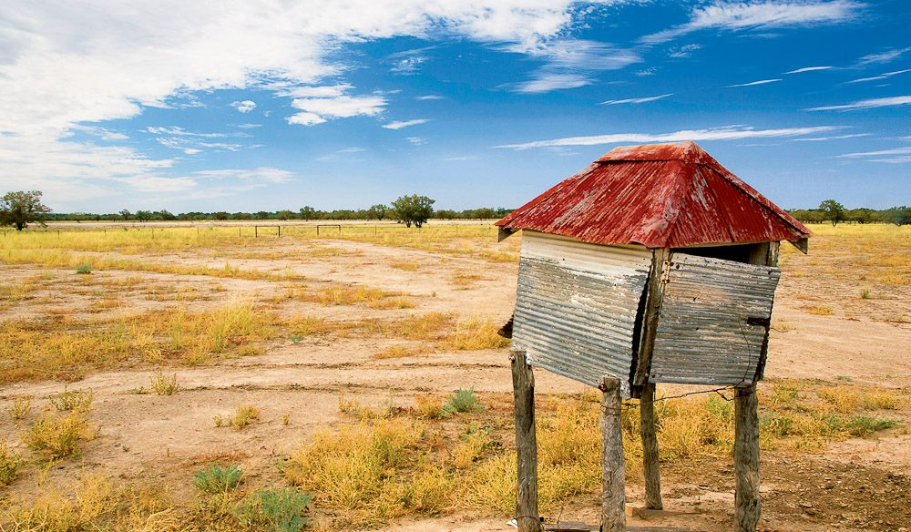 The old letter box of Dunlop homestead - Trilby Station, Outback NSW