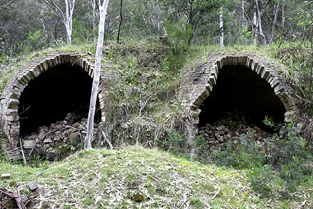 Decrepit coke ovens lie hidden in the valley.