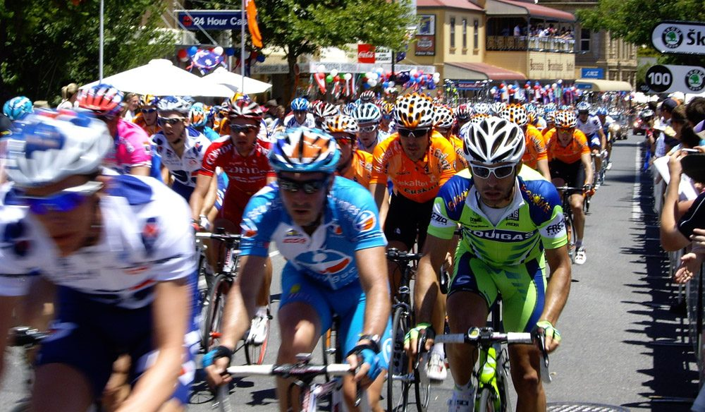 The Tour Down under in Angaston.