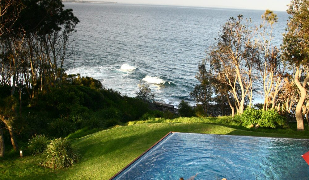 The stunning pool at Bannisters Mollymook