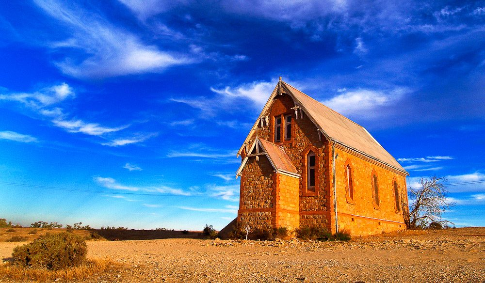 An old Church in Silverton. Possibly Australia's most photographed outback landmark.