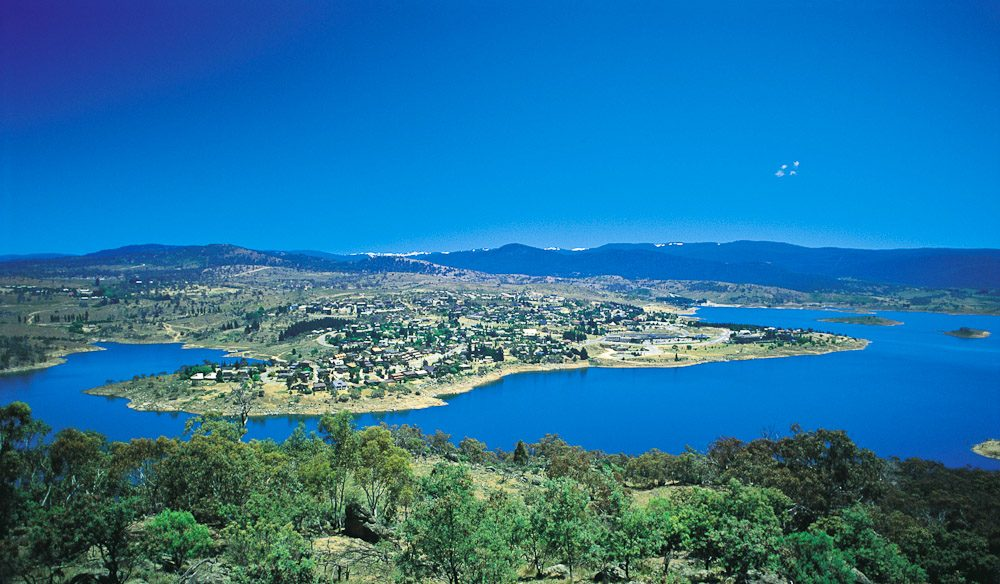 Jindabyne from the air.
